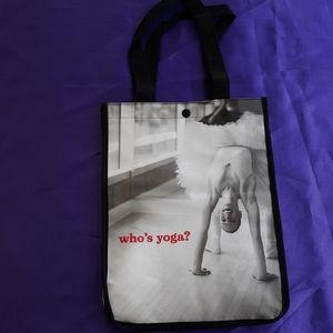 New Lululemon Who's Yoga Reusable Tote Bag.